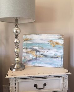 20 x 16 Acrylic Painting  Coated with resin  by SarahKKreations