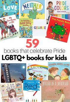 59 children's books that celebrate LGBTQ pride. LGBTQ book list for kids is a must for families and schools wanting to create an inclusive library. Preschool Behavior, Preschool Books, Preschool Lessons, Preschool Crafts, Rhyming Activities, Halloween Crafts For Kids, Early Literacy, Book Lists, Childrens Books