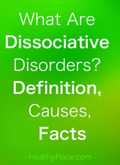 Dissociative disorders are defined by a disconnection from the self and/or the environment. Learn the facts about dissociative disorders. Psychology Questions, Colleges For Psychology, Psychology Books, Psychology Facts, Abnormal Psychology, Psychology Disorders, Mental Disorders, Depersonalization Disorder, Depression Facts