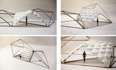 Tangrammatic Huts    EVOLUTIONARY PRODUCTIONS - TEMPORARY BUILDINGS