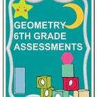 This is a 28 page Geometry Assessment Product that is aligned to ALL Geometry Common Core Standards for 6th grade.      Included in the Packet is:  In...