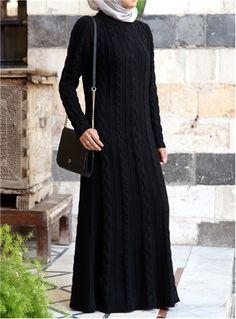 Cable Knit Dress - Shukr UK
