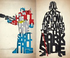 Typographic Iconic Movie Prints | DudeIWantThat.com