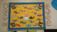 One Fish, Two Fish, Red Fish, Blue Fish and other thrifty classroom ideas for Dr. Seuss theme