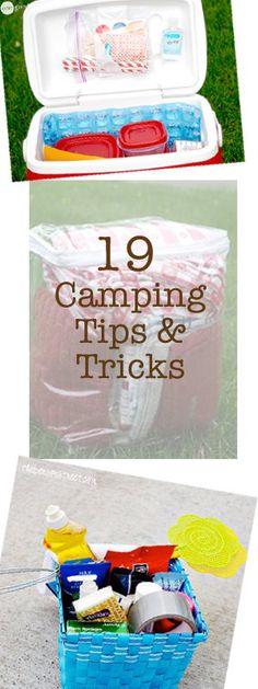 19 Camping Tips & Tricks