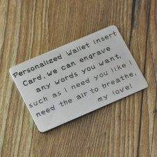Personalized metal wallet insert card - Etsy Valentine's Day