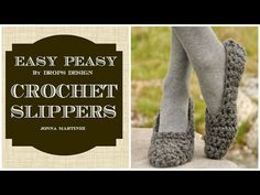 Simple Crochet Slippers - YouTube