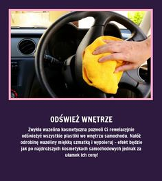 Odśwież wnętrze samochodu - Zobacz jak!!! Bathroom Cleaning Hacks, Life Guide, Simple Life Hacks, Home Hacks, Good Advice, Good To Know, Soda, Good Things, Health