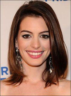 Anne Hathaway - Cabelo Estilo Long Bob - 2011