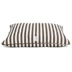 Black Vintage Stripe Dog Bed // whitesmercantile.com