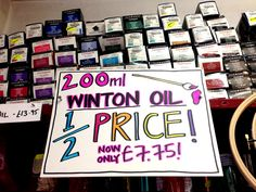 We have a selection of large Winton oil tubes on a half price at the moment, come and grab a bargain #oilpainting #wintonoil