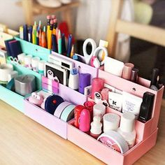 diy mon bureau girly organiser bureau girly 2 the trendy girl desk porn pinterest. Black Bedroom Furniture Sets. Home Design Ideas