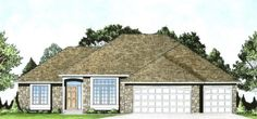 Plan #1558 - 3 bedroom Ranch w/ 10' ceilings and Formal Dining