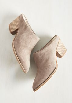 Intrigue Suede Heel. Any fashion mystery can be quickly solved by wearing these taupe heels from Seychelles! #tan #modcloth