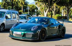 Porsche 991 GT3 RS painted in paint to sample Forest Green  Photo taken by: @educf_photography on Instagram