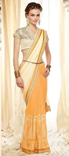 Want something stylish for the #bridesmaids? check this out    #Saree #pastel #IndianWedding #Partywear #ss15