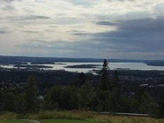 View from the parking lot of the Holmenkollen Restaurant.