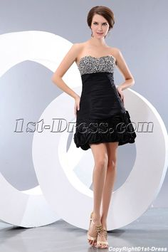 1st-dress.com Offers High Quality Beaded Sweetheart Taffeta Little Black Party Dress juniors,Priced At Only US$139.00 (Free Shipping)