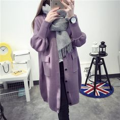 #aliexpress, #fashion, #outfit, #apparel, #shoes #aliexpress, #Kesebi, #Autumn, #Winter, #Female, #Loose, #Single, #Breasted, #Sleeve, #Sweaters, #Women, #Thick, #Knitted, #Cardigans