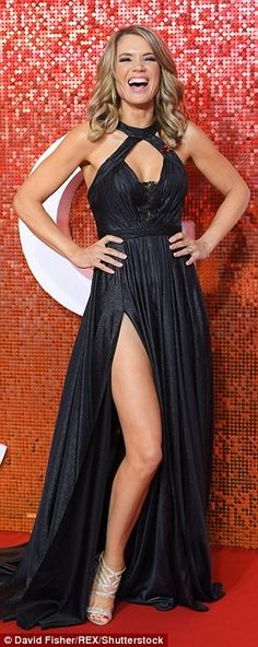 Charlotte Hawkins sizzles in plunging metallic gown at ITV Gala Looking good: The Good Morning Britain presenter, looked showstopping as she unveiled her raciest look to date in a plunging metallic number with a racy thigh-split Great Legs, Beautiful Legs, Gorgeous Women, Beautiful Females, Beautiful Celebrities, Old Hollywood Stars, Hollywood Glamour, Charlotte Hawkins, Good Morning Britain