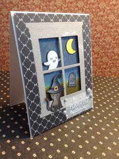 Spooktacular - Lawn Fawn, halloweencard, handmade cards, spooky card