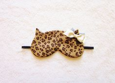 Leopard Cat Sleep Eye Mask by Naomilingerie on Etsy, €18.00