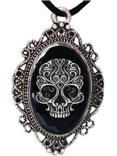 """Swirly Skull"" Cameo by Alkemie Apparel"