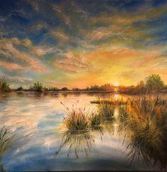 oil on canvas, 40 x 40 cm. Above The Clouds, Australian Artists, Nocturne, Artist Art, Online Art Gallery, Great Artists, Collaboration, Oil On Canvas, Original Art