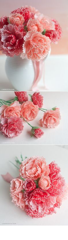 Paper Peonies from Cupcake Wraps. For more ideas, inspiration and free printable visit www.liagriffith.com