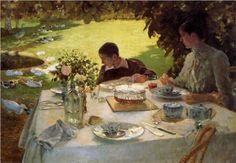 Breakfast in the Garden - Giuseppe de Nittis 1883