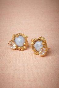 Druzy #Earrings  -something borrowed, something blue.....