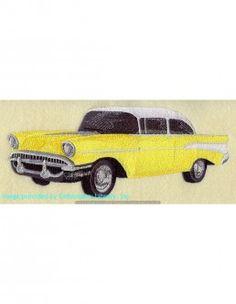 Stickbild, Stickemblem Hobby Oldtimer Auto. Ihr Lieblingsmotiv jetzt auf Textilien und Taschen sticken lassen