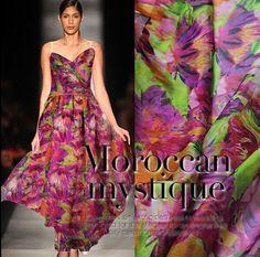 100% mulberry silk chiffon fabric Print silk fabrics beach