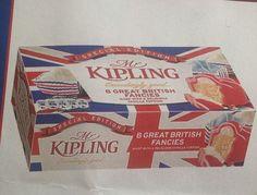 Mr Kipling Great British Fancies, covered in #unnecessaryunionjacks, thanks to @Dehyphenated via Twitter