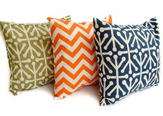 Throw pillows set of three 16 x 16 inches by ThePillowPeople