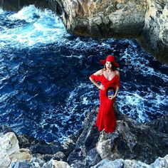 STUNNING <3 @evarivier fabulously rocked our #AW15 #Cora maxi dress in red while travelling through #Ibiza ❤ Simply breathtaking!!