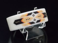 Frosted Crystal Phoenix American Indian Beaded Copper Cuff Bracelet