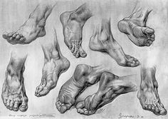 feet sketches foot sketches pencil