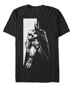 Another great find on #zulily! Black & White Batman Tee - Men's Regular by Fifth Sun #zulilyfinds