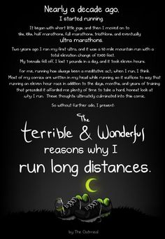 {too funny} The terrible & wonderful reasons I run long distances