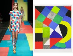 Canvases on the Catwalk: Copenhagen Fashion Week- Marimekko and Delaunay