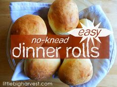 These rolls are fast, easy, require NO kneading, and are SO delicious! Makes just enough, too. YUM!