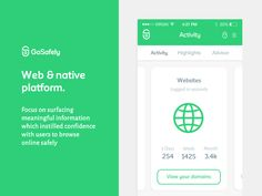 More on the GoSafely platform we've been working on @Gravita, super simple native and web application for securing multiple devices against malicious activity online. We looked to make the experien...