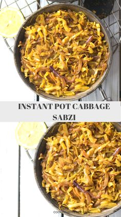 INSTANT POT VEGAN CABBAGE SABZI - Quick and easy cabbage stir fry to go with your rotis, naan or rice.  #cookingwithpree #instantpotrecipe #veganrecipe #indianfood #veggies