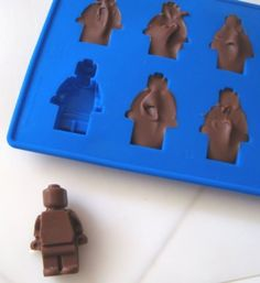 Use an ice cube tray to mold unique chocolate and candy :)