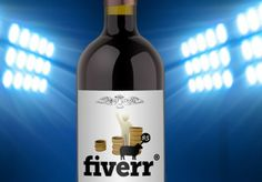 Nice! create HIGH resolution bottle of wine with your image or logo on fiverr.com