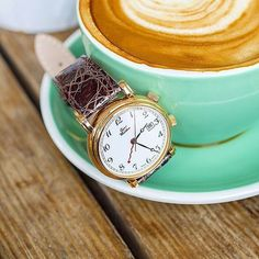 Essentials today consists of coffe & the brilliant @waldanwatches  Elegance to the max!  #0850R by watchfonder