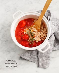Creamy White Bean and Tomato Soup