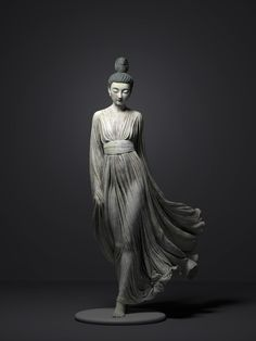 """theartofmany: """"Artist: Qi Sheng Luo Title: serenity """"A tradional Chinese beauty. everything is hand sculpted in Zbrush, texturing in Substance painter, rendered in Arnold"""" So beautiful… """" 3d Pose, Buddhist Symbols, Human Poses Reference, Art Sculpture, Buddha Art, Fantasy Illustration, Comic Artist, Zbrush, Chinese Art"""