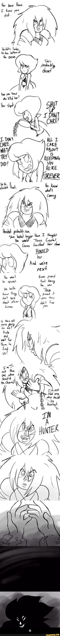 And thaaaat's how it probably Malachite fought Alexandrite